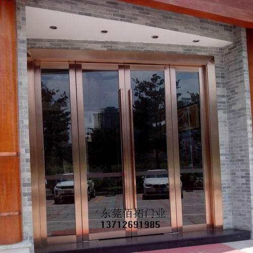 东莞不锈钢包框玻璃门,不锈钢边框玻璃门,边框不锈钢